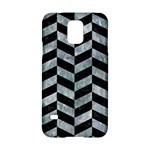 CHEVRON1 BLACK MARBLE & ICE CRYSTALS Samsung Galaxy S5 Hardshell Case