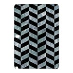 CHEVRON1 BLACK MARBLE & ICE CRYSTALS Samsung Galaxy Tab Pro 12.2 Hardshell Case