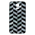 CHEVRON1 BLACK MARBLE & ICE CRYSTALS Samsung Galaxy S5 Back Case (White)