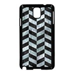 CHEVRON1 BLACK MARBLE & ICE CRYSTALS Samsung Galaxy Note 3 Neo Hardshell Case (Black)