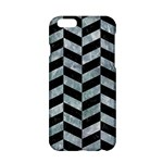 CHEVRON1 BLACK MARBLE & ICE CRYSTALS Apple iPhone 6/6S Hardshell Case
