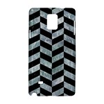 CHEVRON1 BLACK MARBLE & ICE CRYSTALS Samsung Galaxy Note 4 Hardshell Case