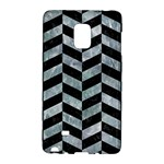 CHEVRON1 BLACK MARBLE & ICE CRYSTALS Galaxy Note Edge