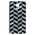 CHEVRON1 BLACK MARBLE & ICE CRYSTALS Galaxy Note 4 Back Case