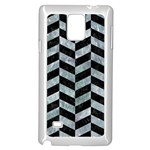 CHEVRON1 BLACK MARBLE & ICE CRYSTALS Samsung Galaxy Note 4 Case (White)