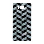CHEVRON1 BLACK MARBLE & ICE CRYSTALS Samsung Galaxy Alpha Hardshell Back Case