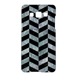 CHEVRON1 BLACK MARBLE & ICE CRYSTALS Samsung Galaxy A5 Hardshell Case