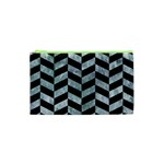 CHEVRON1 BLACK MARBLE & ICE CRYSTALS Cosmetic Bag (XS)