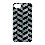 CHEVRON1 BLACK MARBLE & ICE CRYSTALS Apple iPhone 7 Hardshell Case