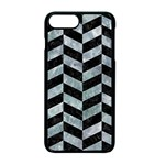 CHEVRON1 BLACK MARBLE & ICE CRYSTALS Apple iPhone 7 Plus Seamless Case (Black)