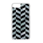 CHEVRON1 BLACK MARBLE & ICE CRYSTALS Apple iPhone 7 Plus Seamless Case (White)