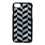 CHEVRON1 BLACK MARBLE & ICE CRYSTALS Apple iPhone 7 Seamless Case (Black)