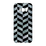 CHEVRON1 BLACK MARBLE & ICE CRYSTALS Samsung Galaxy S8 Hardshell Case