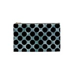 CIRCLES2 BLACK MARBLE & ICE CRYSTALS Cosmetic Bag (Small)  from DesignYourOwnGift.com Front