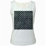 CIRCLES3 BLACK MARBLE & ICE CRYSTALS Women s White Tank Top