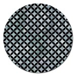 CIRCLES3 BLACK MARBLE & ICE CRYSTALS Magnet 5  (Round)