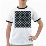 CIRCLES3 BLACK MARBLE & ICE CRYSTALS Ringer T-Shirts