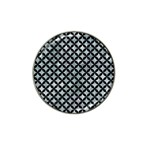 CIRCLES3 BLACK MARBLE & ICE CRYSTALS Hat Clip Ball Marker (4 pack)