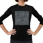 CIRCLES3 BLACK MARBLE & ICE CRYSTALS Women s Long Sleeve Dark T-Shirts