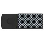 CIRCLES3 BLACK MARBLE & ICE CRYSTALS Rectangular USB Flash Drive
