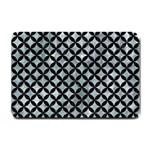 CIRCLES3 BLACK MARBLE & ICE CRYSTALS Small Doormat