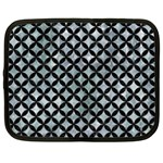 CIRCLES3 BLACK MARBLE & ICE CRYSTALS Netbook Case (Large)