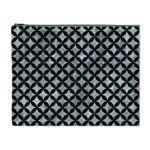 CIRCLES3 BLACK MARBLE & ICE CRYSTALS Cosmetic Bag (XL)