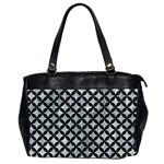 CIRCLES3 BLACK MARBLE & ICE CRYSTALS Office Handbags (2 Sides)