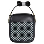 CIRCLES3 BLACK MARBLE & ICE CRYSTALS Girls Sling Bags