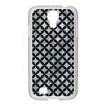 CIRCLES3 BLACK MARBLE & ICE CRYSTALS Samsung GALAXY S4 I9500/ I9505 Case (White)