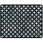 CIRCLES3 BLACK MARBLE & ICE CRYSTALS Double Sided Fleece Blanket (Medium)