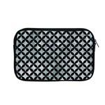 CIRCLES3 BLACK MARBLE & ICE CRYSTALS Apple MacBook Pro 13  Zipper Case