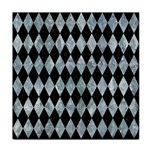 DIAMOND1 BLACK MARBLE & ICE CRYSTALS Tile Coasters