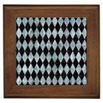 DIAMOND1 BLACK MARBLE & ICE CRYSTALS Framed Tiles