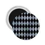 DIAMOND1 BLACK MARBLE & ICE CRYSTALS 2.25  Magnets