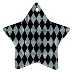 DIAMOND1 BLACK MARBLE & ICE CRYSTALS Ornament (Star)