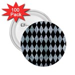 DIAMOND1 BLACK MARBLE & ICE CRYSTALS 2.25  Buttons (100 pack)