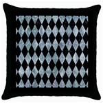 DIAMOND1 BLACK MARBLE & ICE CRYSTALS Throw Pillow Case (Black)