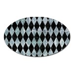 DIAMOND1 BLACK MARBLE & ICE CRYSTALS Oval Magnet