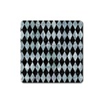 DIAMOND1 BLACK MARBLE & ICE CRYSTALS Square Magnet