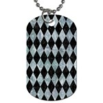 DIAMOND1 BLACK MARBLE & ICE CRYSTALS Dog Tag (One Side)