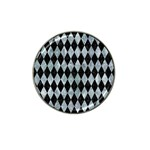DIAMOND1 BLACK MARBLE & ICE CRYSTALS Hat Clip Ball Marker