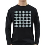 DIAMOND1 BLACK MARBLE & ICE CRYSTALS Long Sleeve Dark T-Shirts
