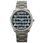 DIAMOND1 BLACK MARBLE & ICE CRYSTALS Sport Metal Watch