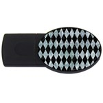 DIAMOND1 BLACK MARBLE & ICE CRYSTALS USB Flash Drive Oval (4 GB)