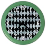 DIAMOND1 BLACK MARBLE & ICE CRYSTALS Color Wall Clocks