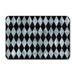 DIAMOND1 BLACK MARBLE & ICE CRYSTALS Small Doormat