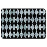 DIAMOND1 BLACK MARBLE & ICE CRYSTALS Large Doormat