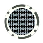 DIAMOND1 BLACK MARBLE & ICE CRYSTALS Poker Chip Card Guard