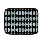 DIAMOND1 BLACK MARBLE & ICE CRYSTALS Netbook Case (Small)